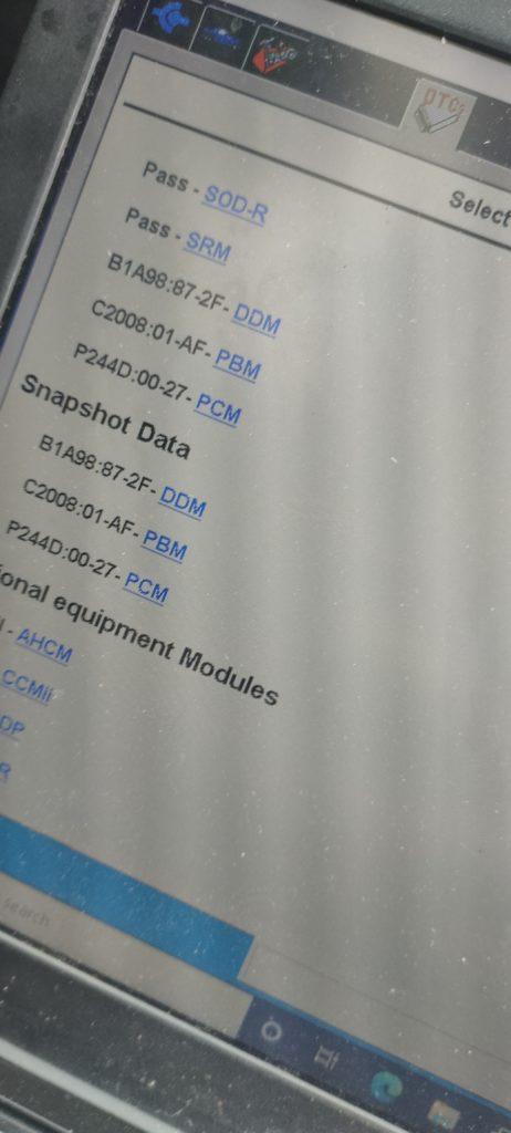 P244D fault code