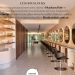 Real Living Salon feature of Headcase Hair salon Sydney with image of Headcase Hair interiors showing interior design, hairdressing chairs, retail shelves