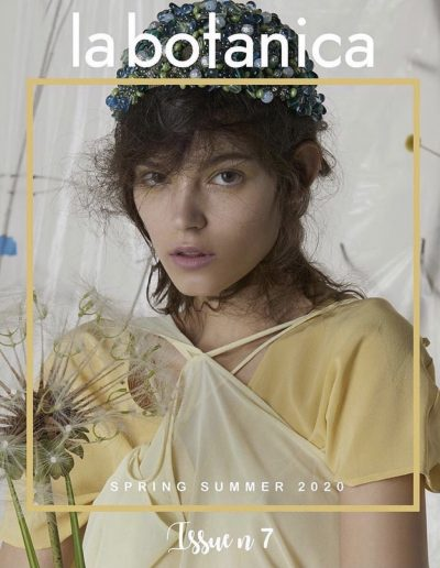 La Botanica magazine cover with girl with editorial hairstyle and brunette hair colour