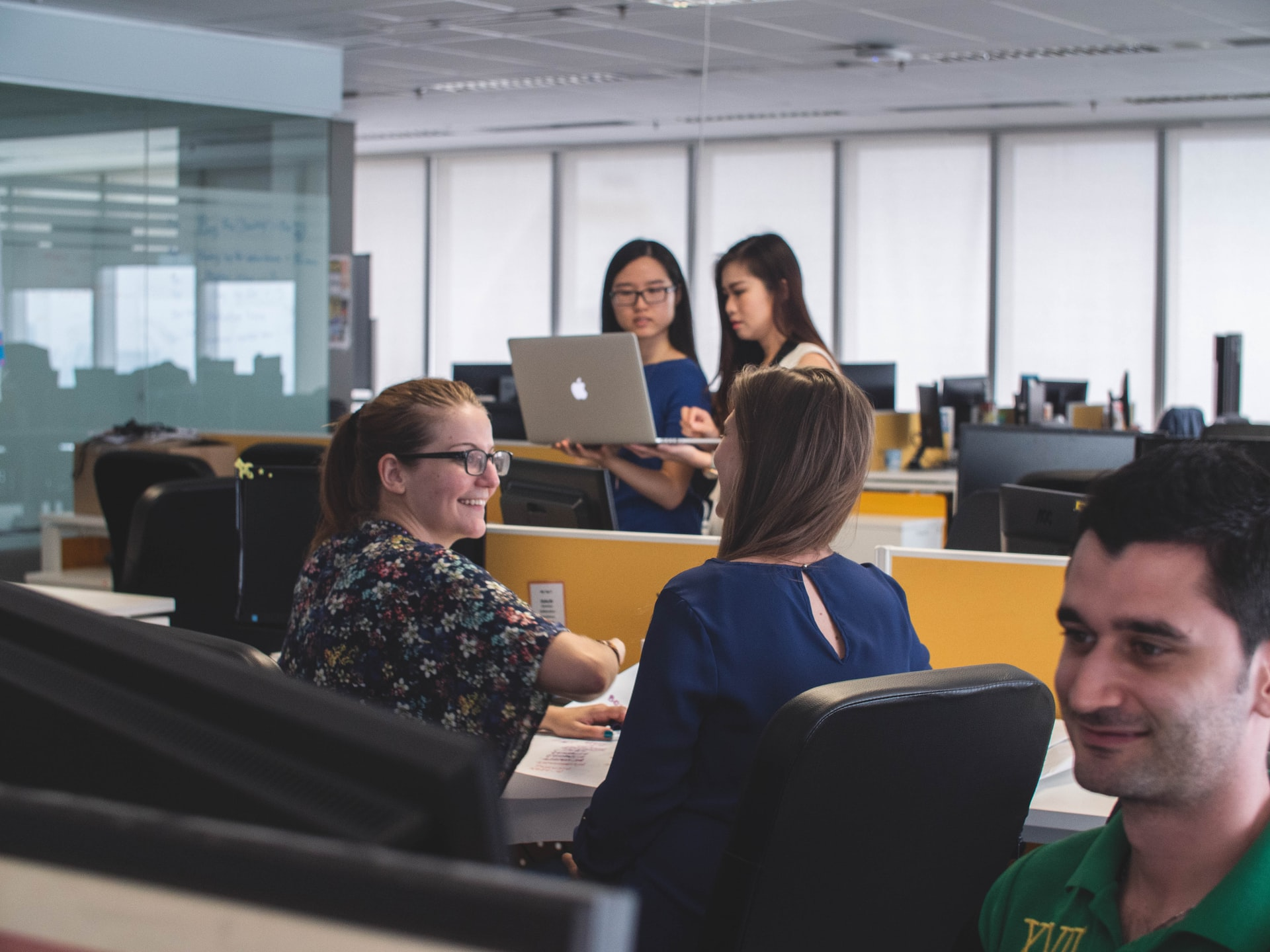 People inside an office.