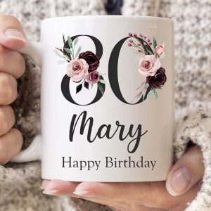 Personalised Milestone Mug 80th
