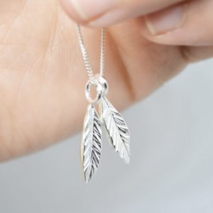 Double Leaf Necklace1