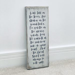Reclaimed Wooden Sign