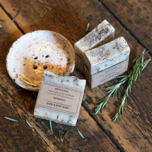herbarium stress reducing & energising handmade natural soap