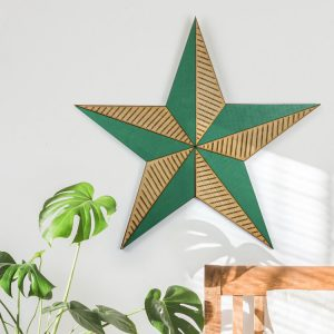 Large Wooden Wall Star