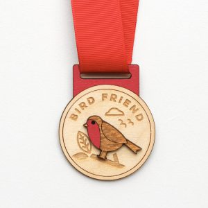 Wooden Bird Friend Medal