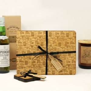 Oak Engraved Whisky Pattern Placemats