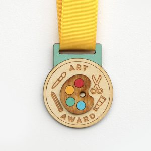 Wooden Art Award Medal