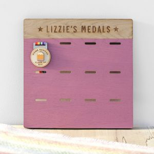 Personalised Wooden Medal Display
