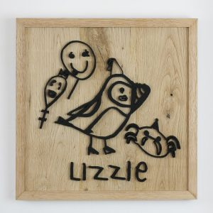 Child's Drawing Wooden Wall Art