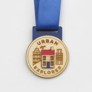 Wooden Urban Explorer Medal