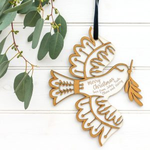 Personalised Dove hanging card