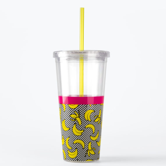 Banana Straw Cup from www.justmustard.com