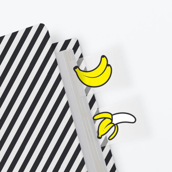 Banana Page Markers from www.justmustard.com