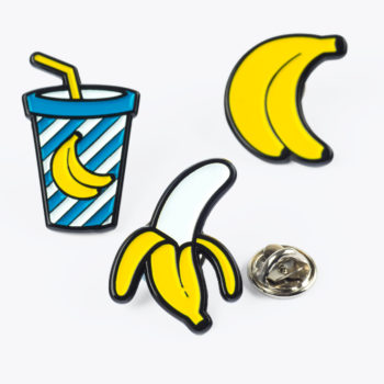 Banana Pin Badges from www.justmustard.com