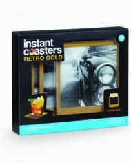 Instant Coasters – Retro Gold 2