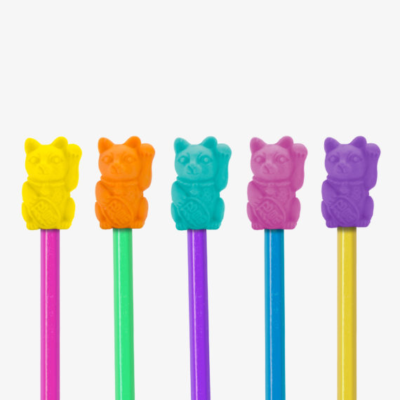 Lucky Cat Eraser Toppers