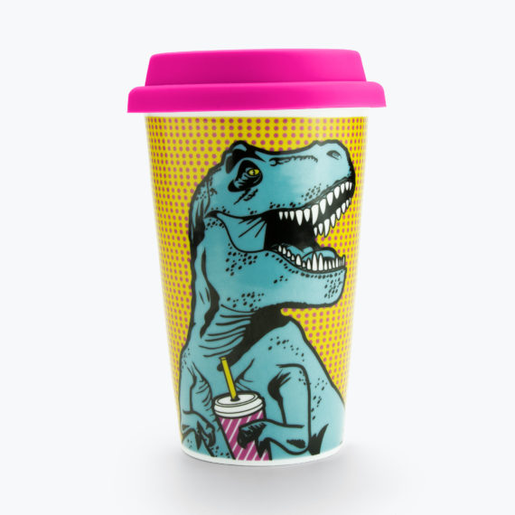 T-Rex Double Wall Mug from www.justmustard.com