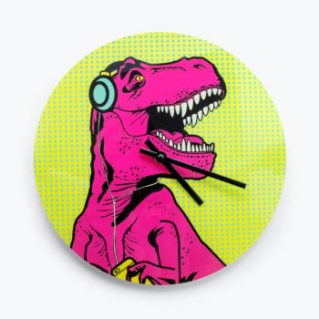 T-Rex Clock from www.justmustard.com