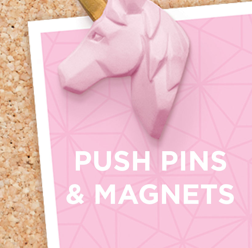 Buy push pins and magnets from justmustard.com