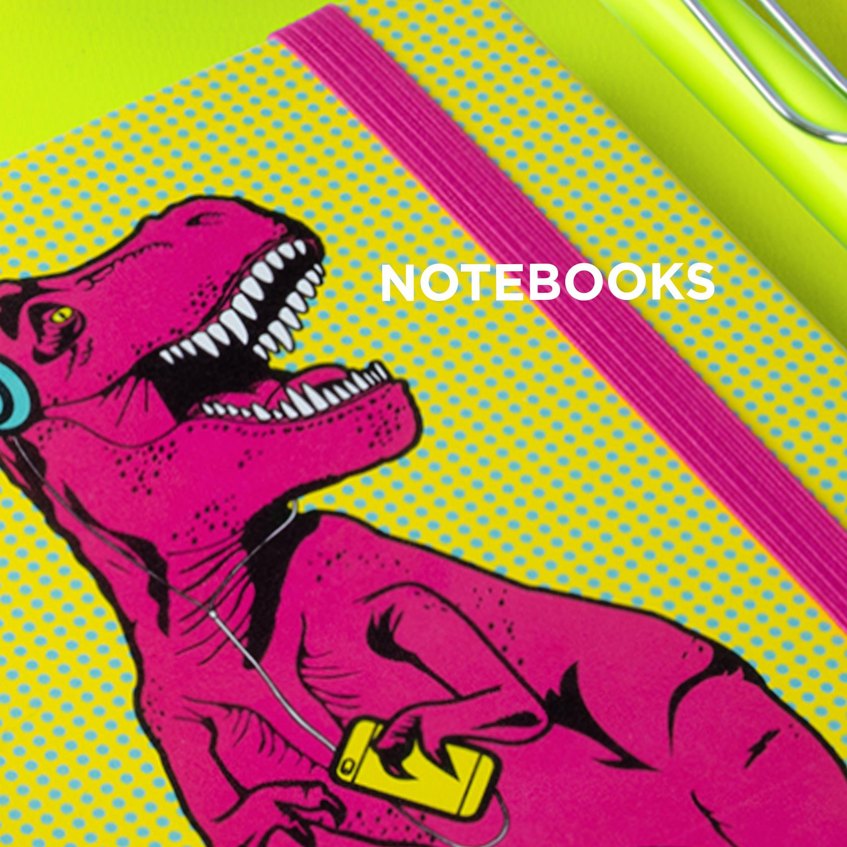 T-Rex notebooks from justmustard.com