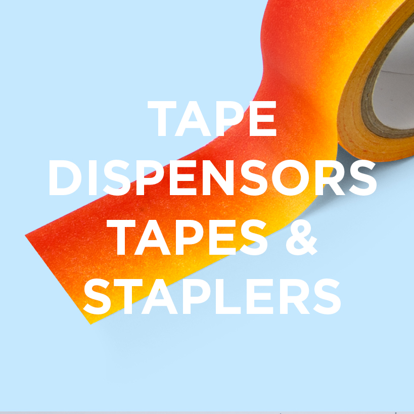 Buy tape dispensors, tapes and staplers from justmustard.com