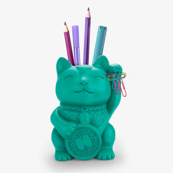 Lucky Cat Pen Pot