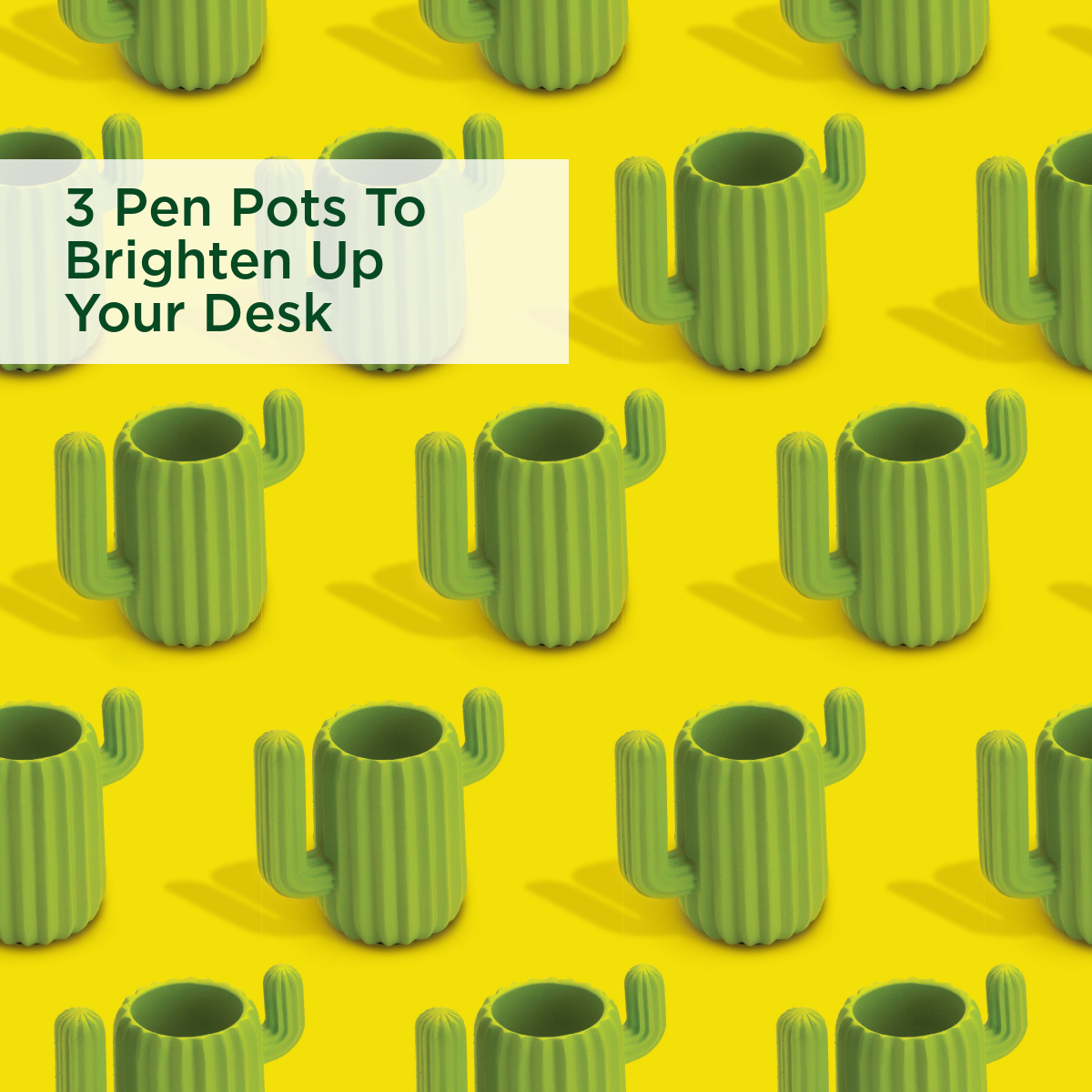 3 Pen Pots To Brighten Up Your Desk