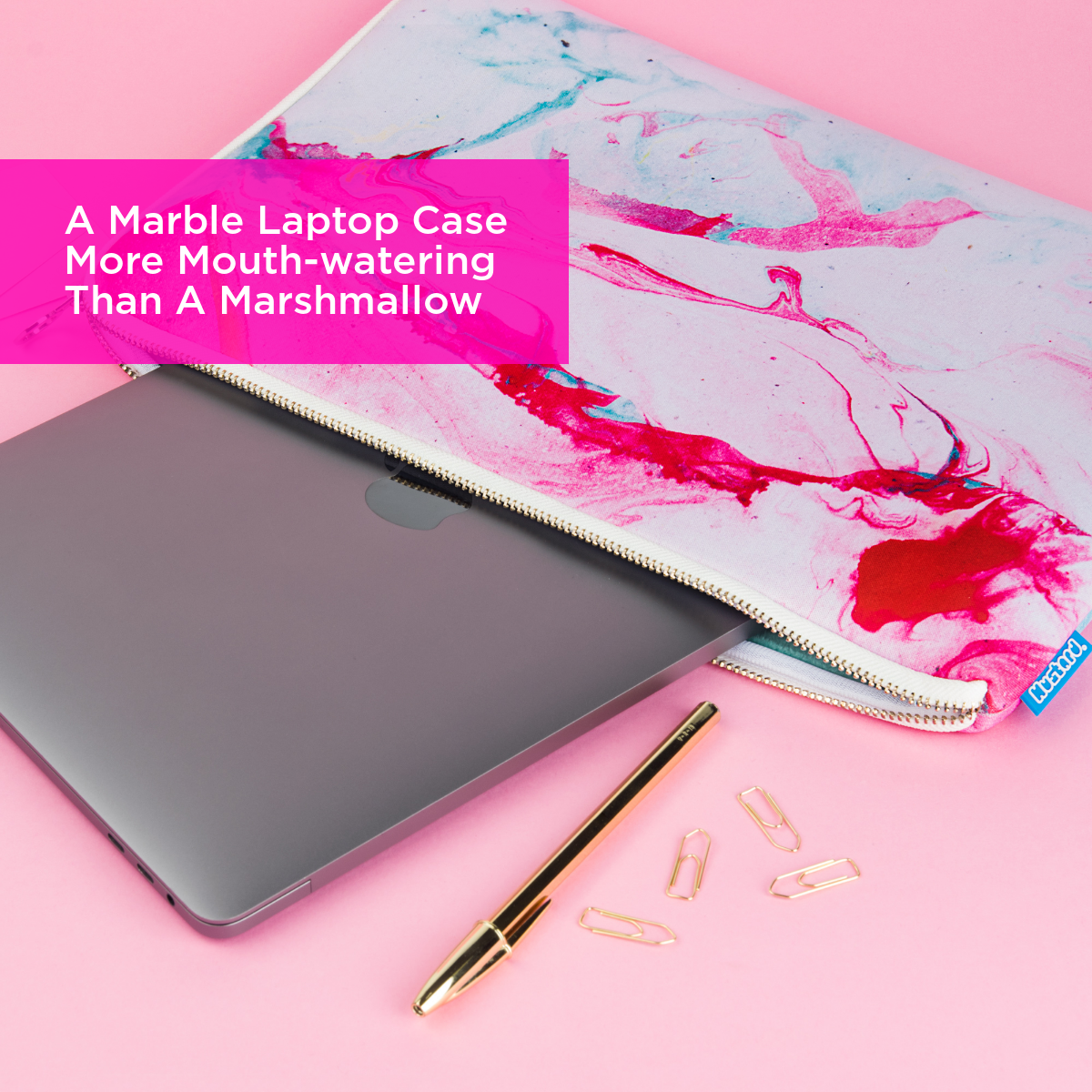 A Marble Laptop Case More Mouth-watering Than A Marshmallow