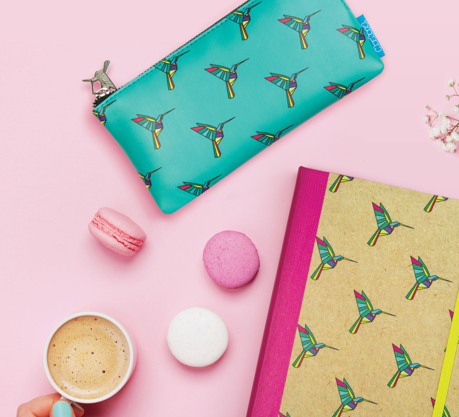 Hummingbird Pencil Case from www.justmustard.com