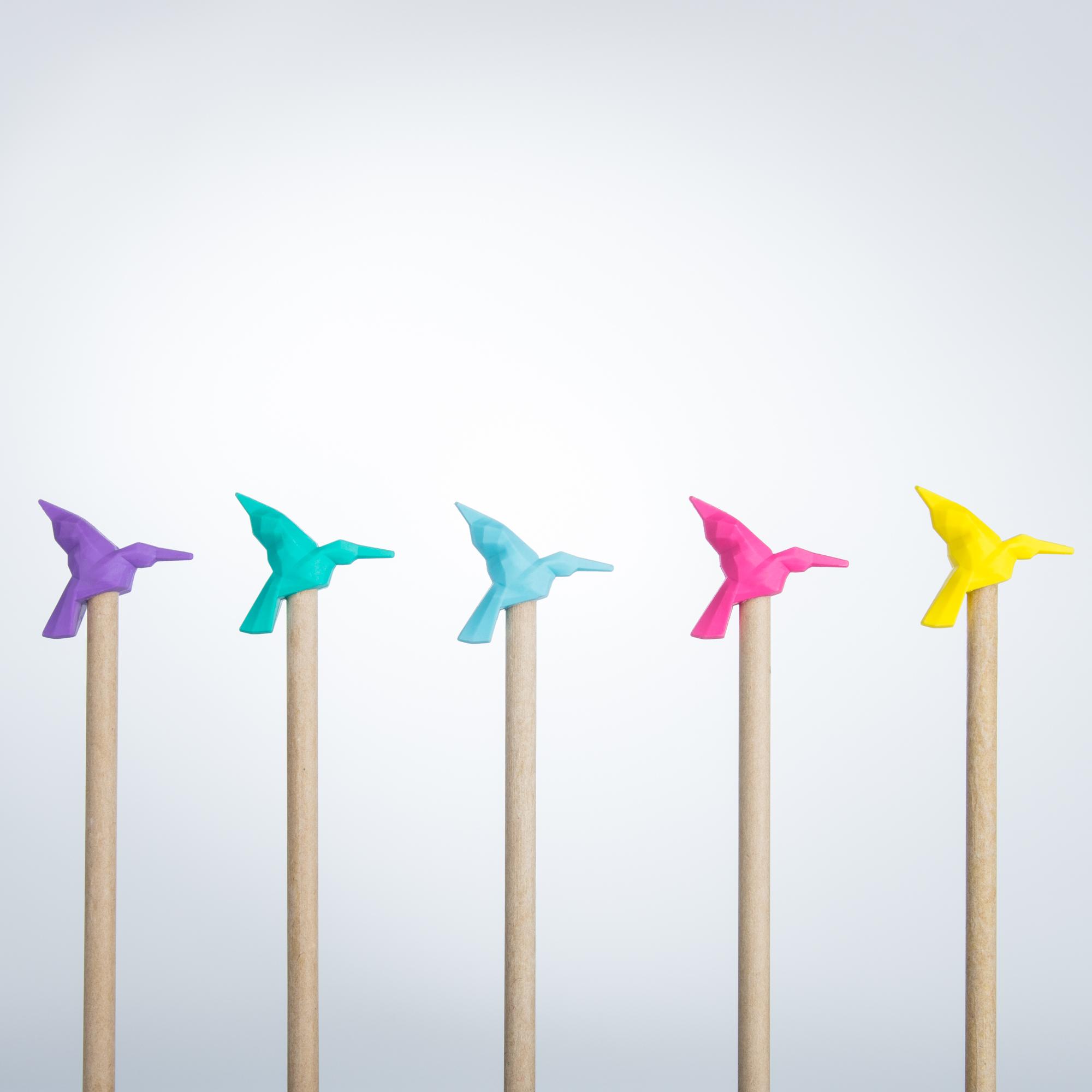 origami eraser topper