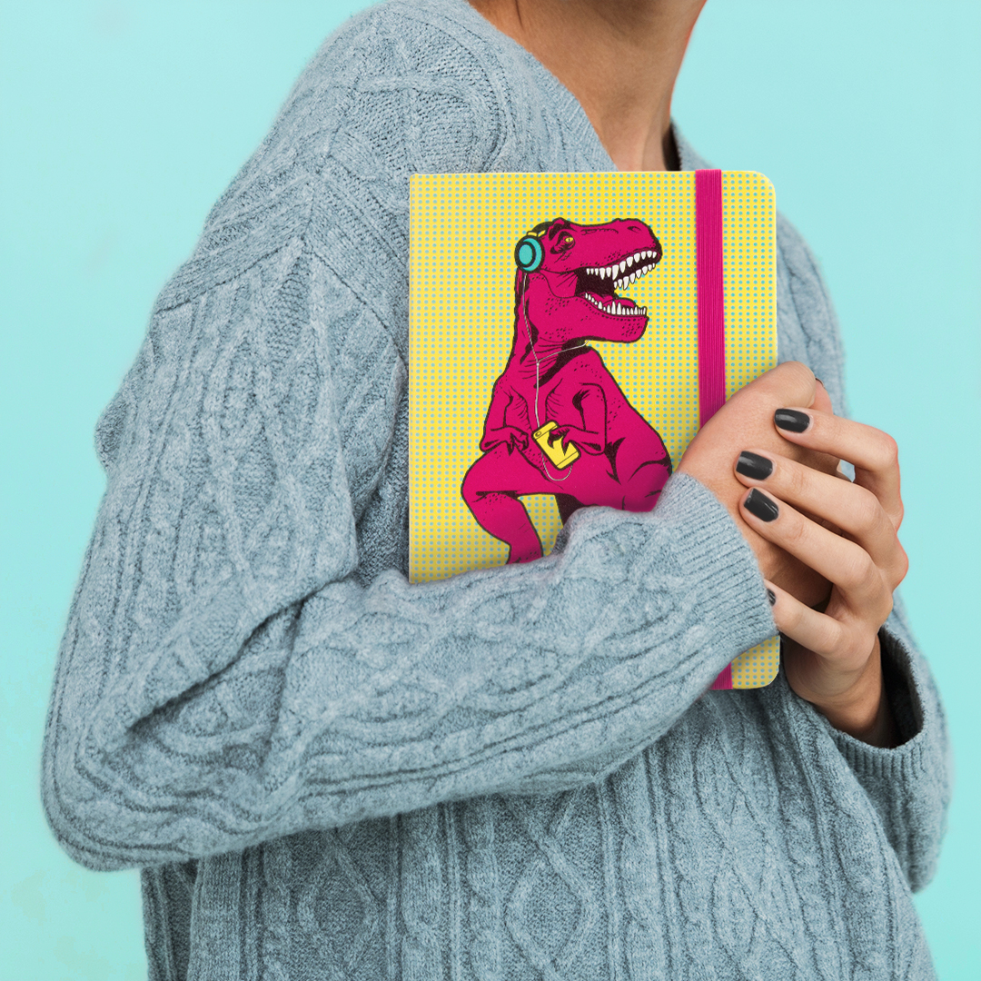 T-Rex Notebook from www.justmustard.com