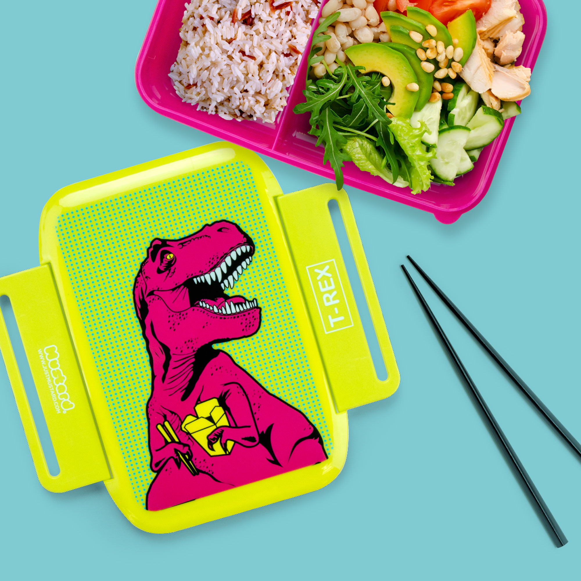 T-Rex Lunch Box from justmustard.com