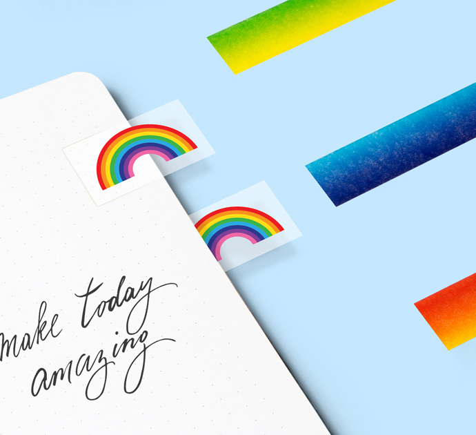 Rainbow Page Markers from justmustard.com