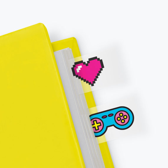 Power Up Page Markers from www.justmustard.com