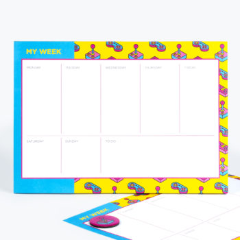 Power Up Weekly Planner from www.justmustard.com