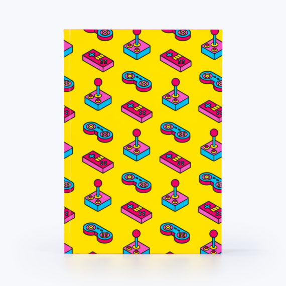 power up notebook yellow