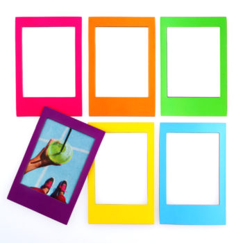 Rainbow Magnetic Instax Frames from www.justmustard.com
