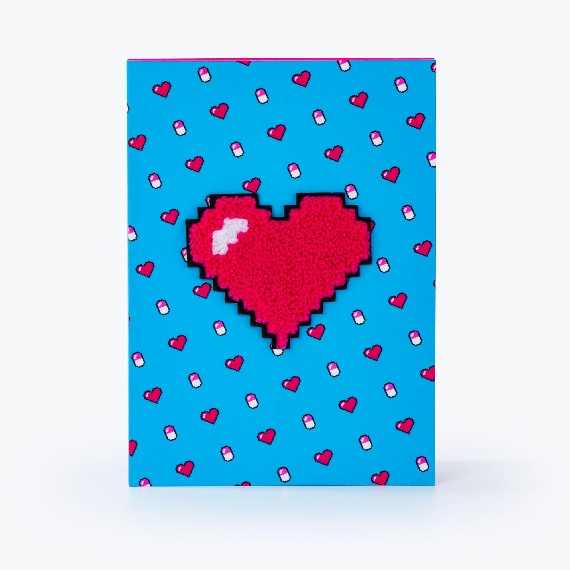 power up notebook heart