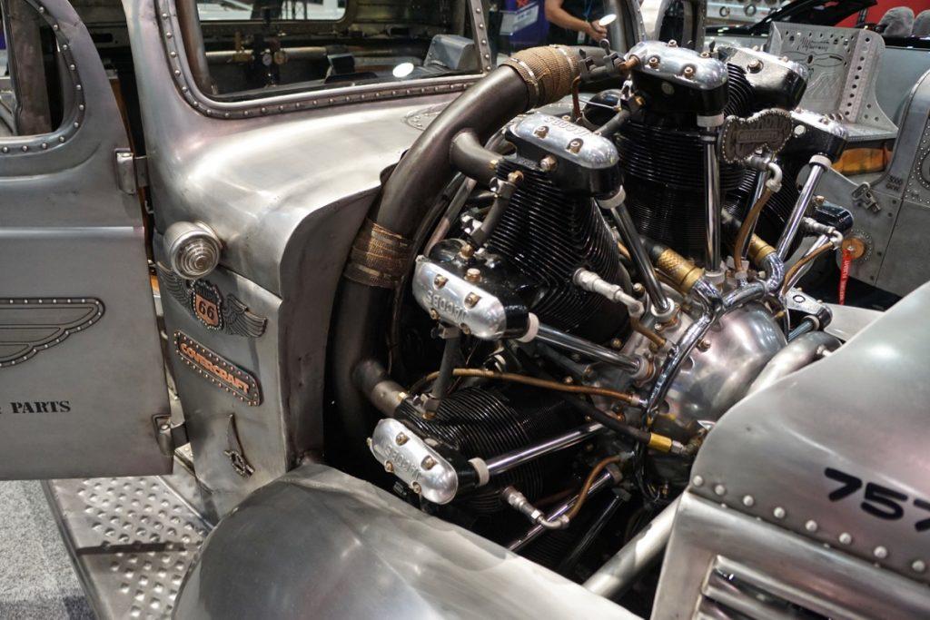 Gary Corns Radial Engine 1939 Plymouth Truck SEMA 2017