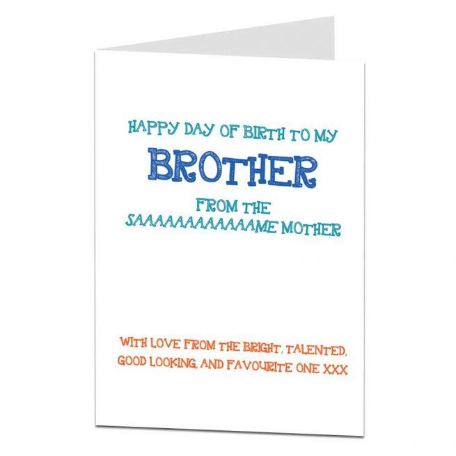 funny brother birthday card