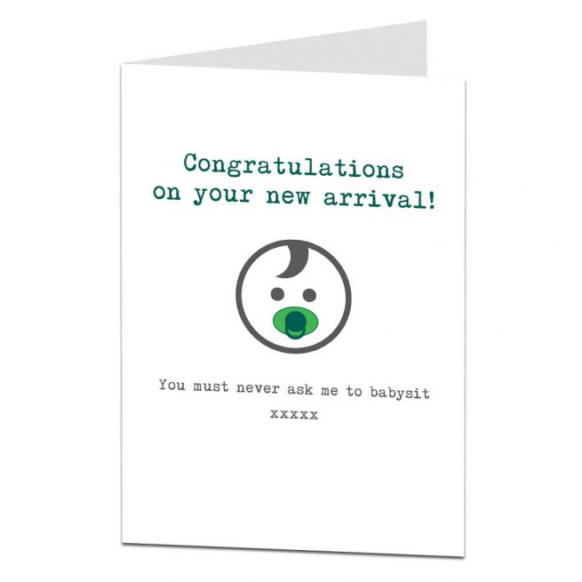 funny new baby card