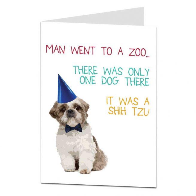 shihtzu joke birthday card