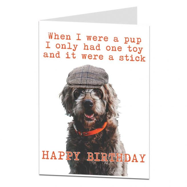 When I Were A Pup Birthday Card