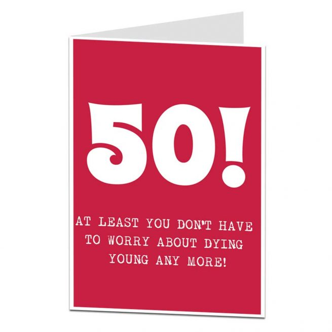 Dying Young Joke 50th Card