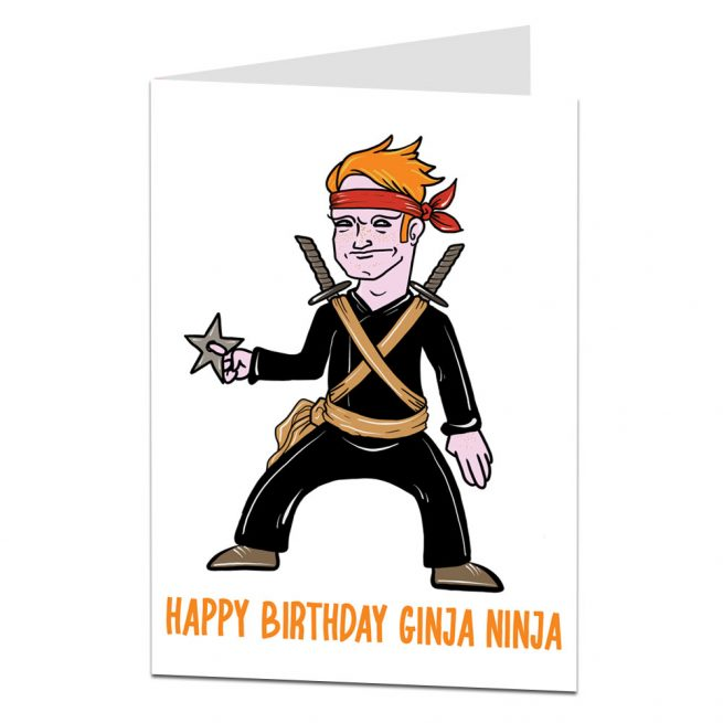 Ginger Ninja Birthday Card