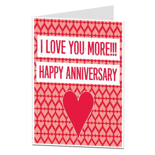 love you more anniversary card