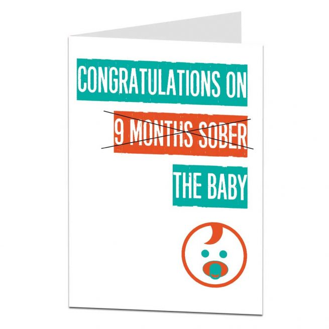 Congratulations Sober New Baby Card