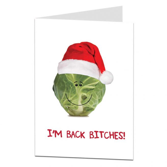 Xmas Card Brussel Sprout Joke