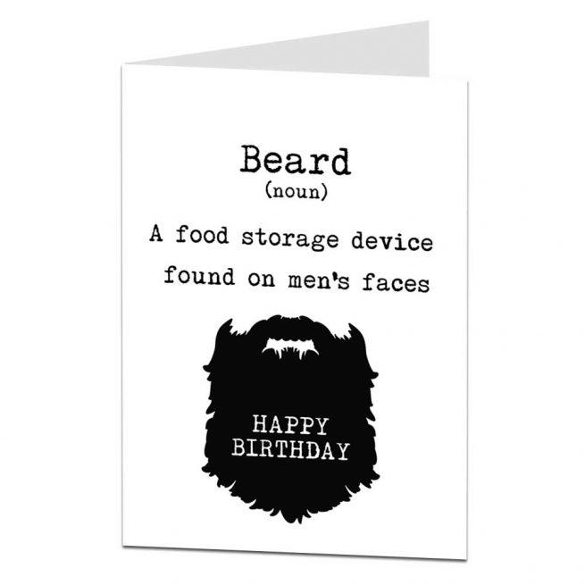 Beard (noun) Birthday card